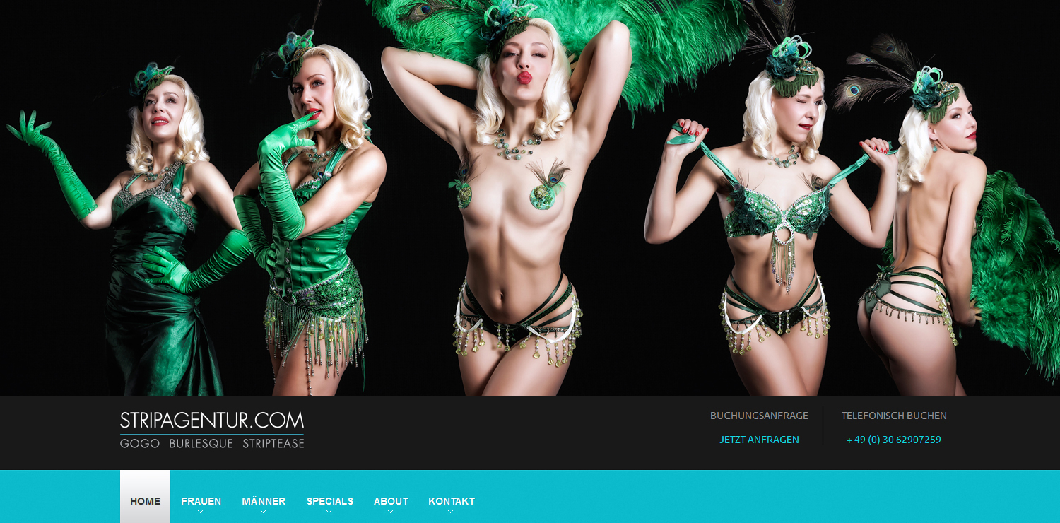 Burlesque Fotoshooting im Studio