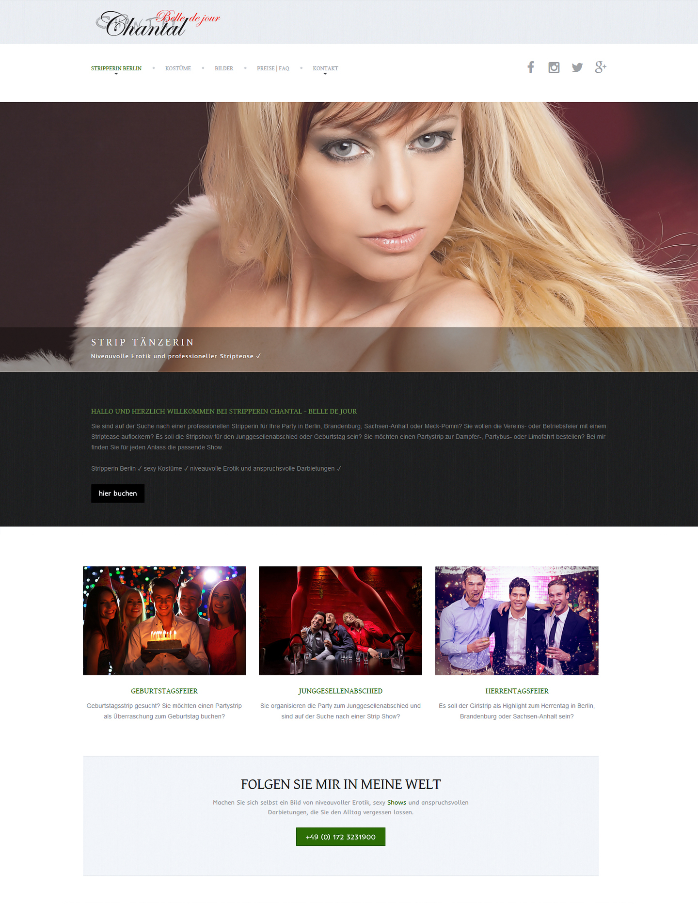 Chantal - Belle de jour » Website Erstellung by J.R. Foto, Web & Design